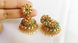 Download Latest Gold Earring |Gold Jhumka | Designs 2018 New Collection Video