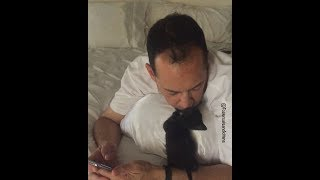 Download Gus the tiny kitten with special needs loves his foster dad Video