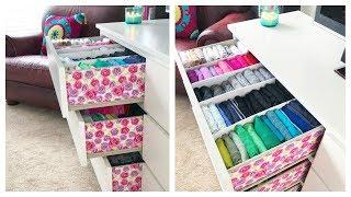 Download How I Organize & Embellish My Dresser // Konmari Drawer Organization & DIY Dividers Video