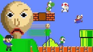 Download Baldi would be OP in Super Mario Bros. Video