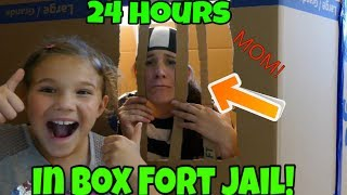 Download 24 Hours In Box Fort Jail! Mom Goes To Box Fort Jail Overnight! Video