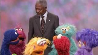 Download Sesame Street: Kofi Annan Helps Out Video