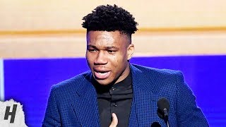 Download Giannis Antetokounmpo EMOTIONAL SPEECH - Most Valuable Player Award - 2019 NBA Awards Video