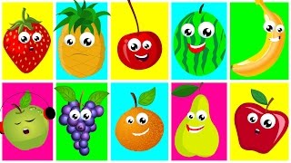 Download Ten In The Bed Fruits | Nursery Rhymes For Kids And Childrens | Learn Fruits | Songs For Toddler Video