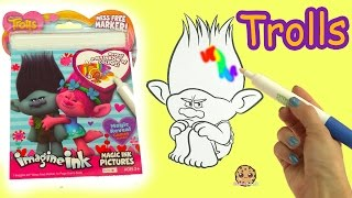 Download Dreamworks Trolls Poppy + Branch Magic Imagine Ink Rainbow Color Pen Surprise Picture Coloring Video Video