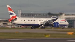 Download 2 British Airways 787-9s G-ZBKG & G-ZBKO landing Manchester Airport Video