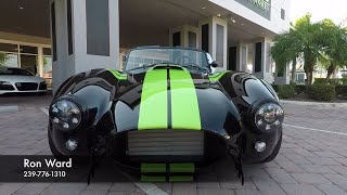 Download Rare Optioned BackDraft Racing Cobra! Lamborghini Green Stripes! Video