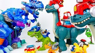 Download The Battle Between Giant Dinosaurs~! Chomp Squad Blaze Asaurus - ToyMart TV Video
