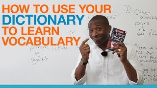 Download How to use your dictionary to build your vocabulary Video