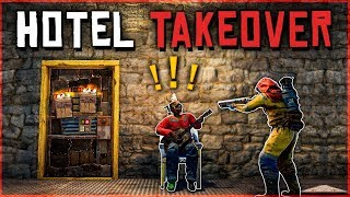 Download INSIDE RAIDING the ENEMY HOTEL - Rust Survival Gameplay Video