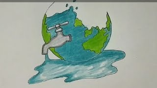 How To Draw Save The Trees Coloring Drawing For Kids Save Earth