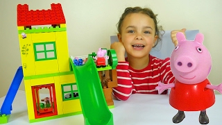 Download Peppa Pig Toy House Building Sets with Kinder Surprise Eggs and Play Doh Peppa Dough Video