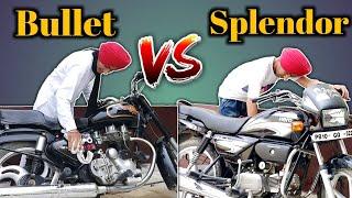 Download Bullet VS Splendor😂 - ਬੁਲੇਟ vs ਸਪਲੈਂਡਰ😂 - New Punjabi Funny Video 2018😂 Video