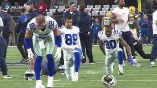 Download Dallas Cowboys warm up before game against Green Bay Video