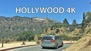 Download Driving Downtown - Hollywood Sign 4K - USA Video