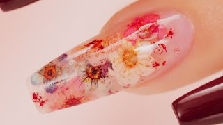 Download Real Flowers Inside Acrylic Coffin Nails Video
