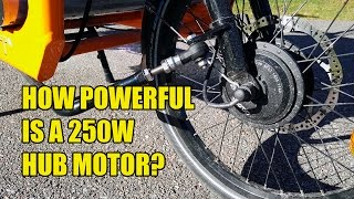 Download How powerful is a 250W hub motor? Video
