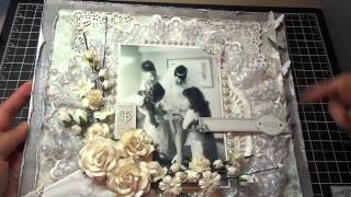 Download 12x12 Wedding Scrapbook Layout: Another I Am Roses challenge! Video