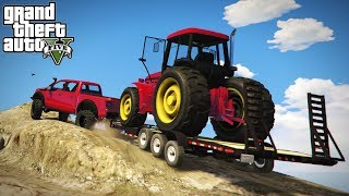 Download OFF-ROAD TRACTOR HAULING! Loading & 4x4 Transporting Up Mt. Chilliad! (GTA 5 PC Mods) Video