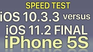 Download iPhone 5S : iOS 11.2 Final vs iOS 10.3.3 Speed Test Build 15C114 Video