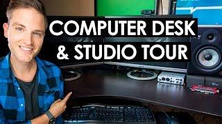 Download Computer Desk Setup Ideas — Video Editing Studio Tour Video