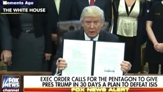 Download ″IT'S NOT A MUSLIM BAN! IT'S WORKING OUT VERY NICELY!″ Donald Trump Signs 3 MORE Executive Orders Video