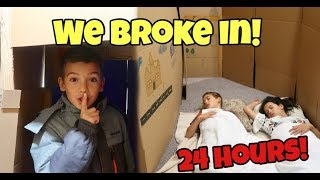 Download 24 HOURS in THAT YOUTUB3 FAM's Boxfort Maze! WE BROKE INTO THEIR HOUSE! Video