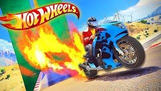 Download HOT WHEELS - Sky High Stunt City Races!! (GTA 5 Funny Moments & FAILS) Video