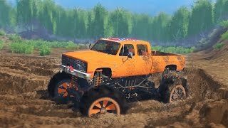 Download MUDDING CHALLENGE! Chevy Mud Truck 4x4 Off-Roading, Mudding, & Hill Climbing! (SpinTires) Video