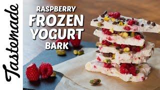 Download Raspberry Frozen Yogurt Bark l Jen Phanomrat Video