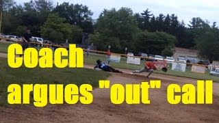 Download Coach argues umpire's ″out call″ - Guess what happens next Video