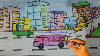 How To Draw City Scene Step By Step Free Download Video Mp4 3gp M4a
