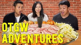 Download Korean BBQ With Black Pig Pork Belly and Captain America's Shield Video