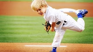 Download 5 year-old baseball kid Christian Haupt 2014 MLB All-Star Game commercial & best first pitches Video