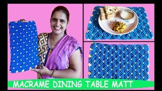 Download How to Make Macrame Dining Table Matt Video