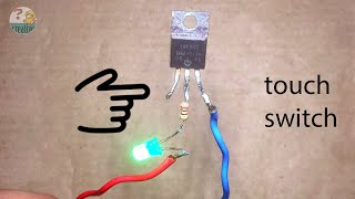 Download Simple touch switch circuit using mosfet transistor Video
