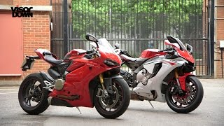 Download Yamaha R1 vs Ducati 1299 Panigale S | Visordown Back-to-Back Test Video