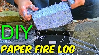 Download DIY Paper Fire Logs Video