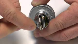 Download Removing a key lock and tumbler from a GM-style ignition switch. Video