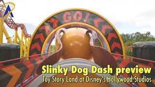 Download First look at Slinky Dog Dash roller coaster POV in Toy Story Land at Disney's Hollywood Studios Video