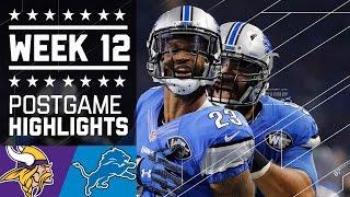 Download Vikings vs. Lions (Week 12)   Game Highlights   NFL on Thanksgiving Video