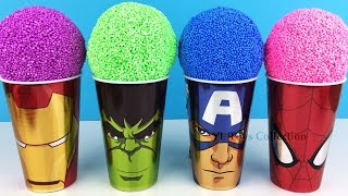 Download Marvel Avengers Foam Surprise Iron Man Hulk Captain America Spider-Man with Mr Potato Head Video