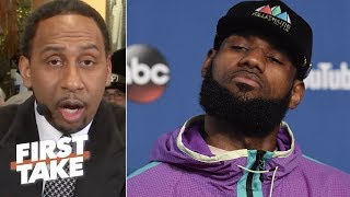 Download Stephen A. warns LeBron James about possibly joining Warriors | First Take Video