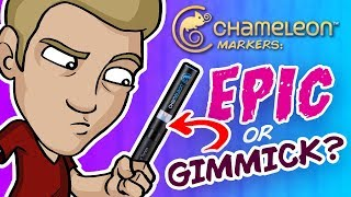 Download EPIC or GIMMICK? - Trying Chameleon Markers and Pencils! Video