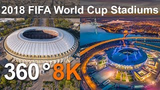 Download 360 video, 2018 FIFA World Cup Russia. All Stadiums from drone Video
