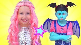 Download Alice and Junior Vampirina pretend play with magic toys Video