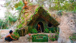 Download Build Beautiful Secret House Underground Using Bamboo Video