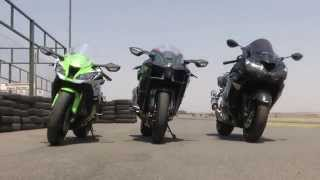 Download Kawasaki H2 vs. ZX10R vs. ZX14 Video