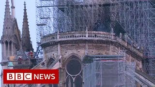 Download Notre-Dame fire: Millions pledged to rebuild cathedral - BBC News Video