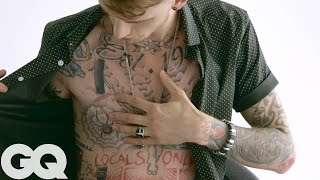 Download The Late-Night Ink of Machine Gun Kelly | Tattoo Tour | GQ Video